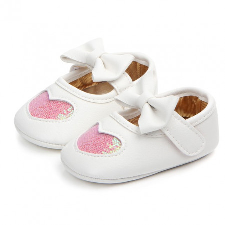 Pantofiori fetite - Inimioara sclipitoare roz