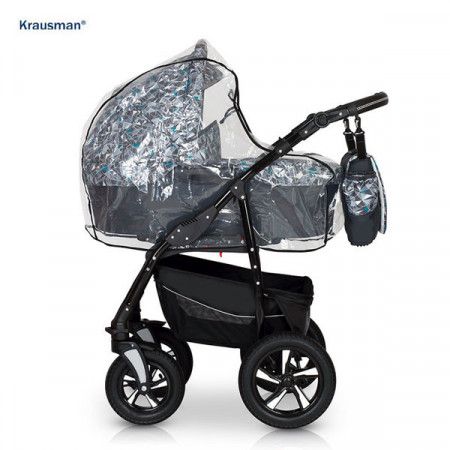 Krausman - Carucior Kraus Clasic Grey Turqoise