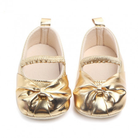 Pantofiori aurii cu funda