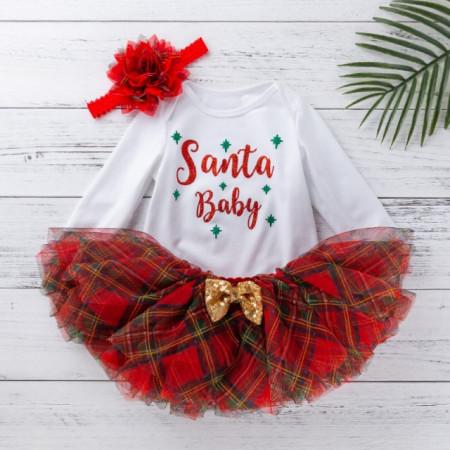 Set body cu fustita tutu - Santa Baby