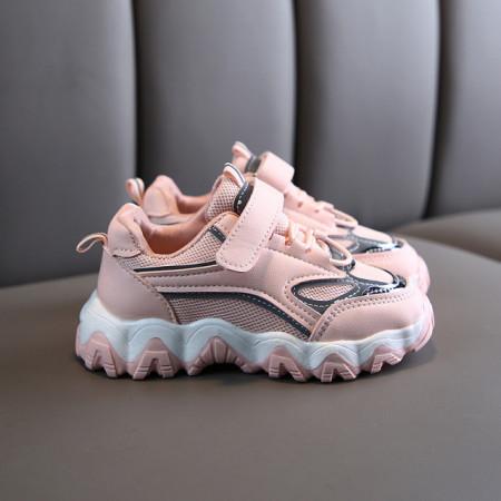 Adidasi roz cu argintiu