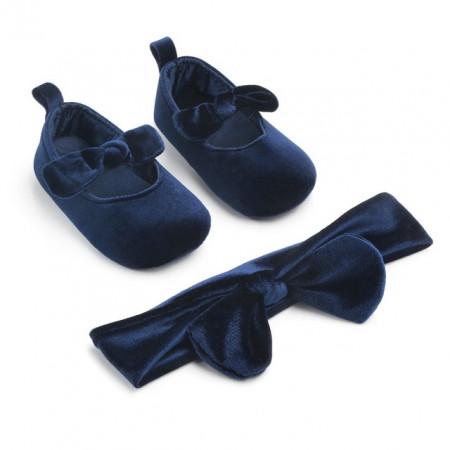 Balerini bleumarine cu bentita