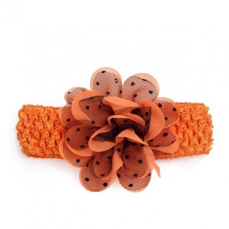 Bentita pentru fetite - Trandafirul portocaliu