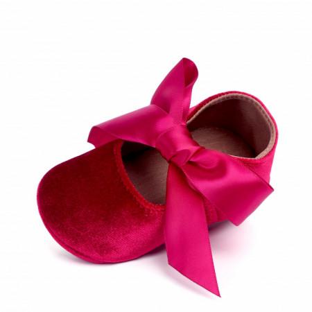 Pantofiori visinii din catifea