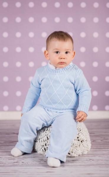 Pulover albastru pentru bebelusi