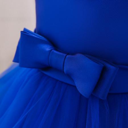 Rochita ocazie albastra cu perlute