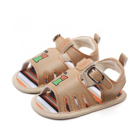 Sandale baietei crem - One