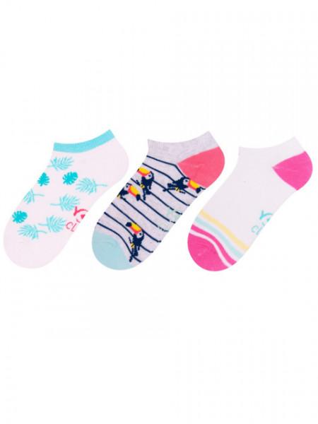 Sosete scurte pentru fetite in culori viu colorate