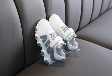 Adidasi albi din material tip plasa
