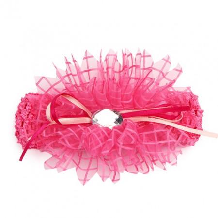 Bentita pentru fetite roz cu stras