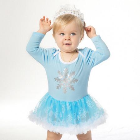 Body rochita bleu - Fulg de nea