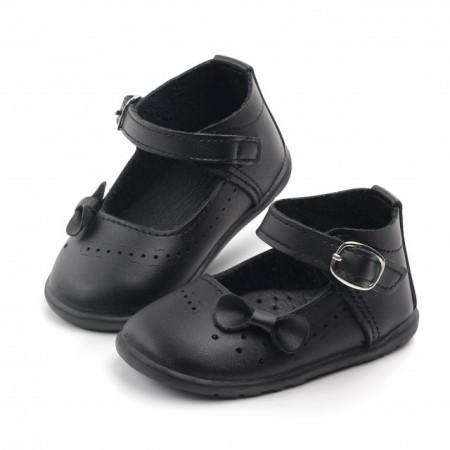Pantofi negri cu fundita