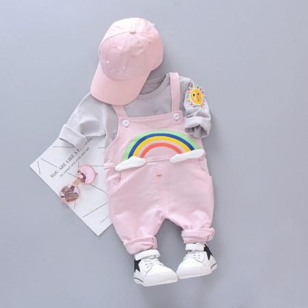 Salopeta bebelusi roz - Curcubeu
