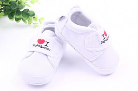 Tenisi albi bebelusi - I love