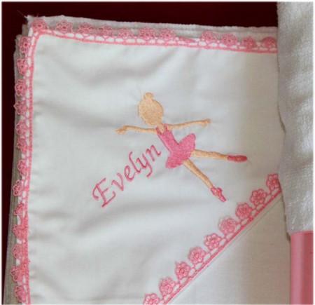 Trusou botez complet balerina personalizat cu numele copilului NKTB013