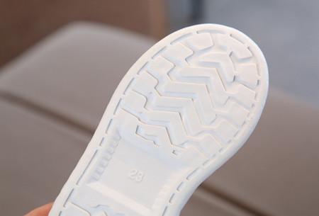 Adidasi albi cu dungi lila sidefate