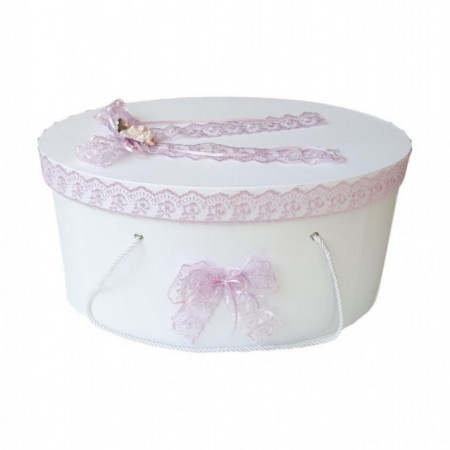 Cutie trusou botez dantela lila si ingeras, Denikos® 387
