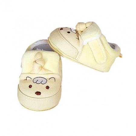 Pantofiori imblaniti galbeni - Ursulet cu mot