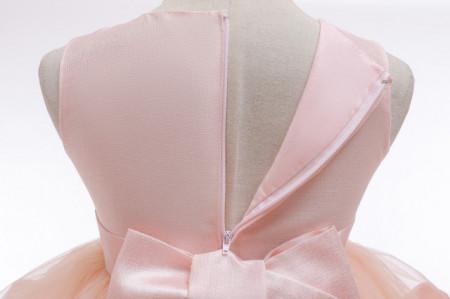 Rochita de ocazie roz cu volane