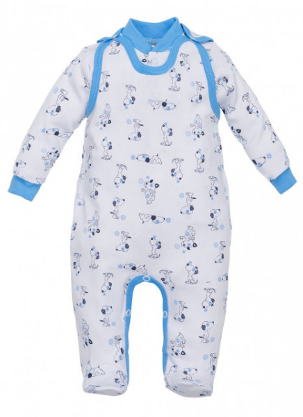 Salopeta cu bluzita pentru bebelusi - Colectia Puppy