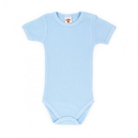 Body bleu cu maneca scurta pentru bebelusi