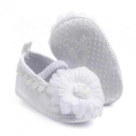 Pantofiori botez fetite - Margareta alba