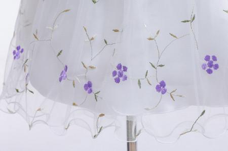 Rochita ocazie cu floricele mov brodate