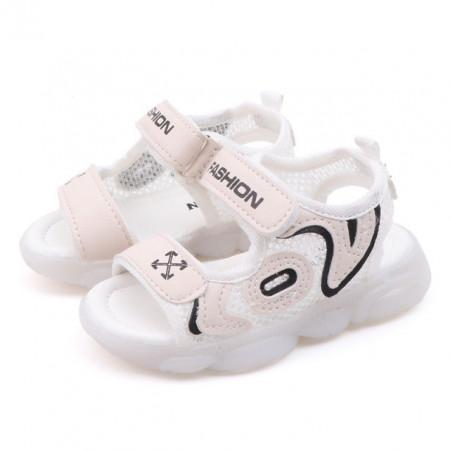 Sandale ivoire cu plasa pentru baietei