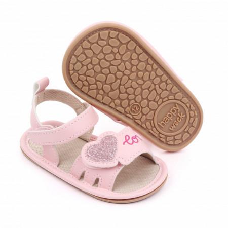 Sandalute roz pentru fetite - Love