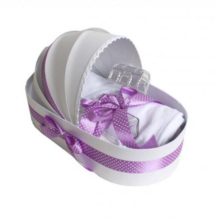 Trusou botez complet, in landou, lila buline Denikos® 135