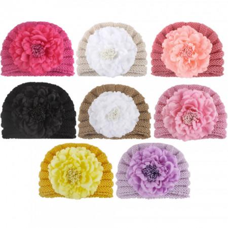 Caciulita crosetata tip turban cu floare aplicata