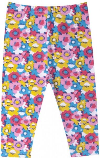 Colanti trei sferturi pentru fetite - Floricele colorate