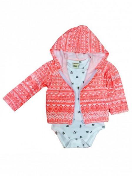 Hanorac pentru bebelusi cu body - Little teddy