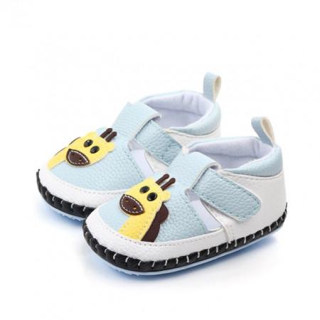 Pantofiori bleu cu alb - Girafa