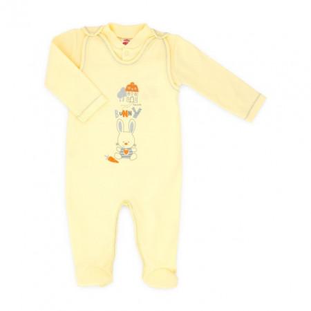 Salopeta bebe cu bluzita - colectia Bunny - Haine Bebelusi