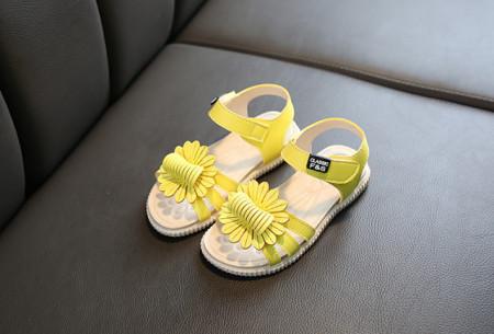 Sandale galbene - Margareta dantelata