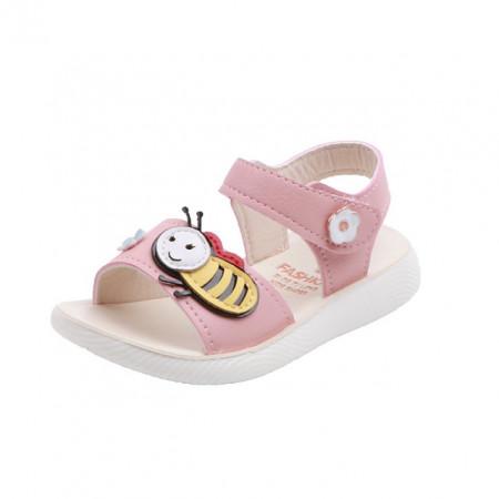 Sandale roz pentru fetite - Albinuta