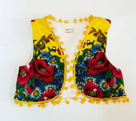 Vestuta accesorizata cu ciucurei - Yellow Diva