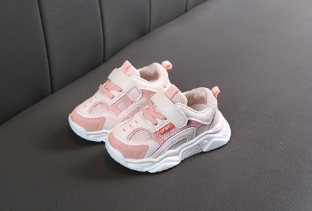 Adidasi alb cu roz pentru fetite