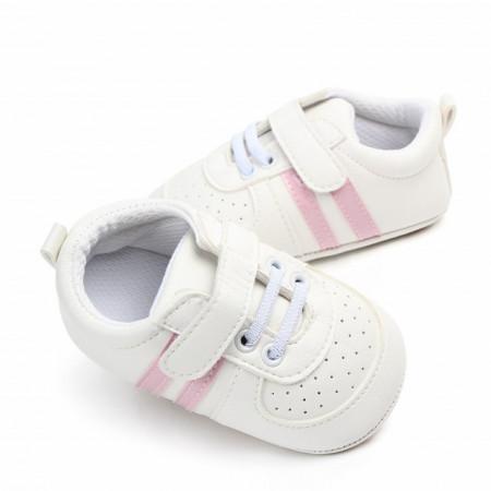 Adidasi bebelusi cu dungi roz