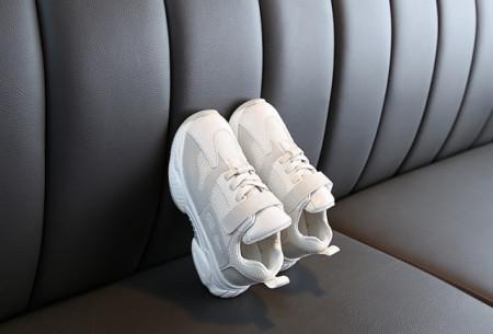 Adidasi pentru copii gri cu ivoire