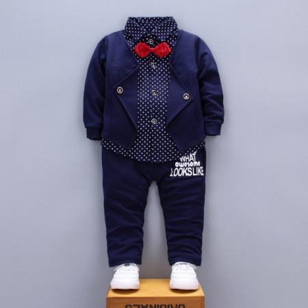 Costum bebelusi elegant bleumarine