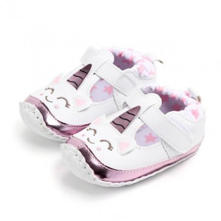 Pantofiori fetite albi - Unicorn
