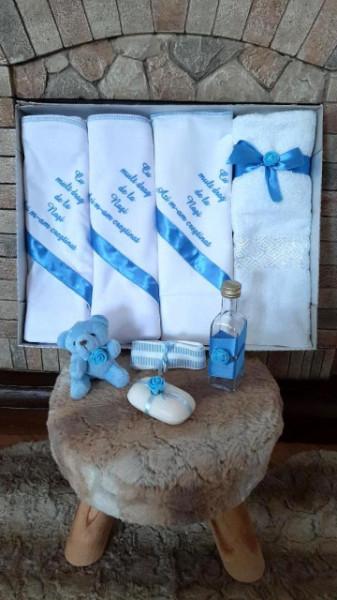 Trusou botez baietei cu bleu - Cu mult drag de la nasi