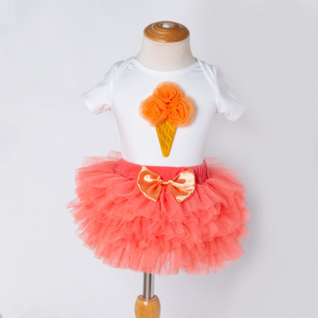 Body cu fustita tutu - Orange Ice cream