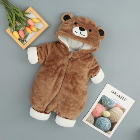 Combinezon plusat - Teddy brown