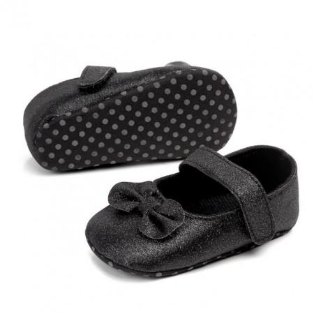 Pantofiori cu fundita neagra