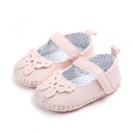 Pantofiori roz cu fluturas