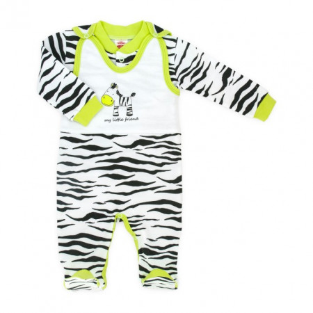 Salopeta bebe cu bluzita - Zebra - Haine Bebelusi