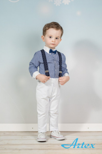 Set complet cu pantalonasi cu bretele - Perfect Look